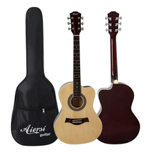 China Aiersi Brand wholesale price 40 Inch Colourful Cutway Acoustic Guitar