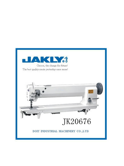 JK20676 2015 NEW Long arm type integrated feeding thick material sewing machine
