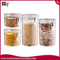 4 Piece Airtight Acrylic Canister Set , Food Storage Container