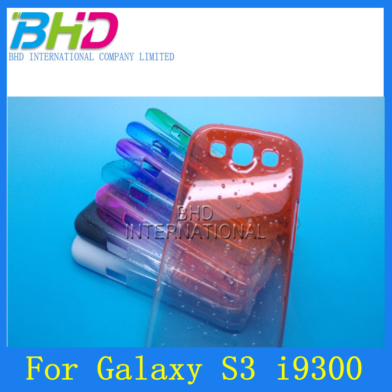 high quality transparent watedrop raindrop multicolor skin cover case for samsung galaxy S3 i9300