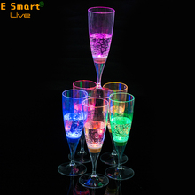 LED Luminous Juice Glass Cup Colorful Light Charged Flashing Light Beer Mug Coke-Cola Drink Cup for Party Club Bar Decorative