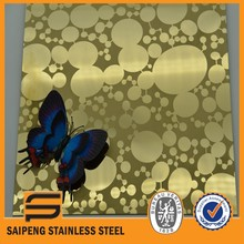 circle pattern stainless steel etching sheet plate distributors