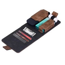 Electronic cigarette carrying leather cover card holder frosted iQOS wallet case