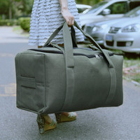 Hot sell style luggage bag canvas luggage with luggage sacle