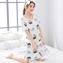 2018 Amazon Hot Selling High grade adult summer onesie casual girls night sleeping dress