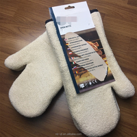 Cooking terry cloth oven mitt