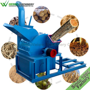 Weiwei agriculture waste crusher sawmill make soil fertilizer disk mill grain branch cutting wood hammer mill