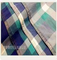 cotton polyester grid popular wholsale denim fabric