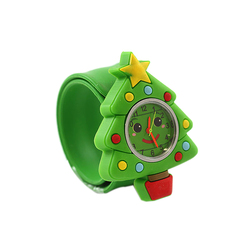 Christmas series 3D cartoon silicone kids watch gift for children funny slap watch