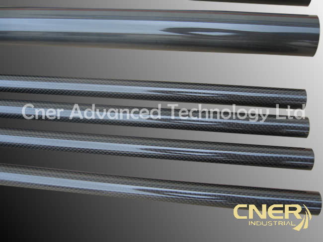 100% 3k glossy Carbon Fiber Tube / rod of professional manufacturer