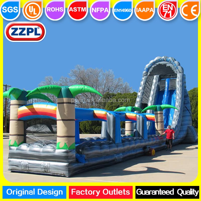 ZZPL Giant 27' Inflatable Roaring River Water Slide for sale, Inflatable Slip n Slide for adults