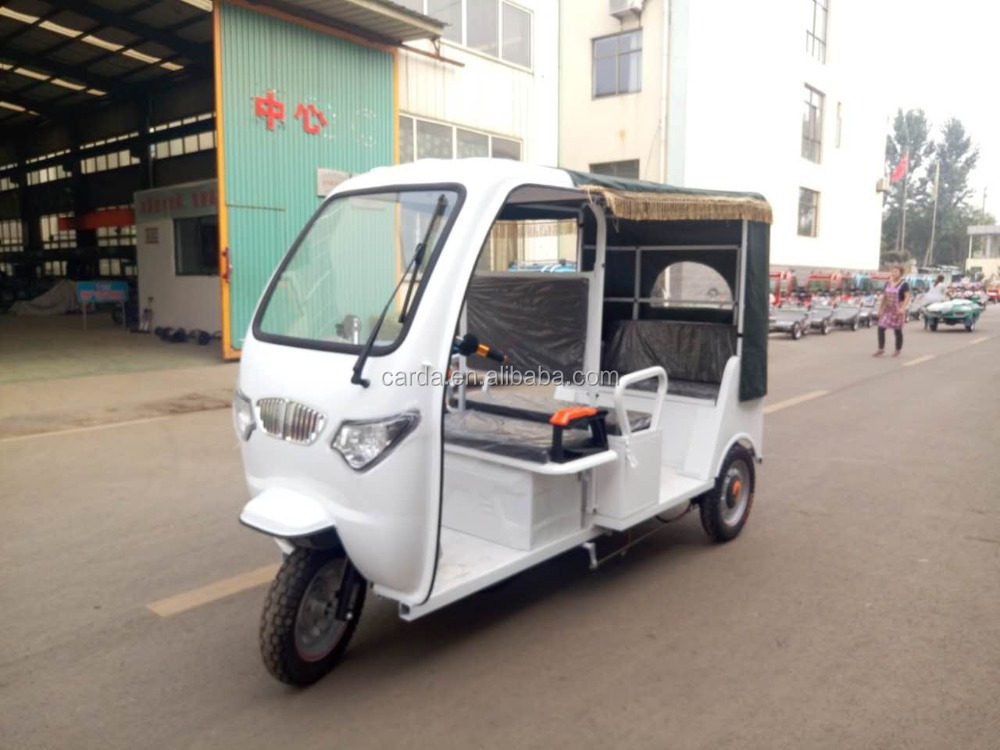 Bajaj 3 wheel electric scooter taxi for sale/battery operated bike in India