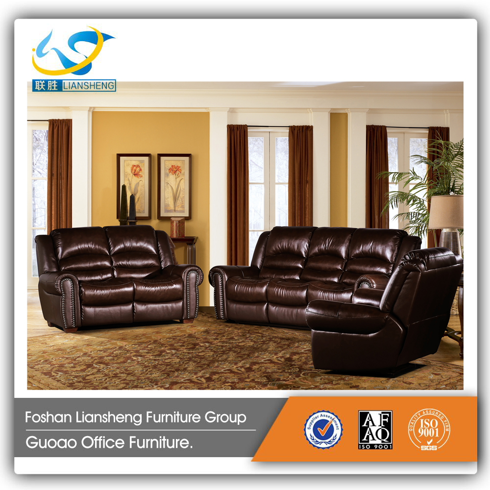 Multifunctional Modern Sectional Leather Wooden Sofa Furniture BSO-107