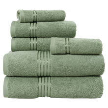 Fade-Resistant Cotton 6-Piece green bulk face towels