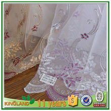 whole width embroidered organza fabric for women dress, curtain