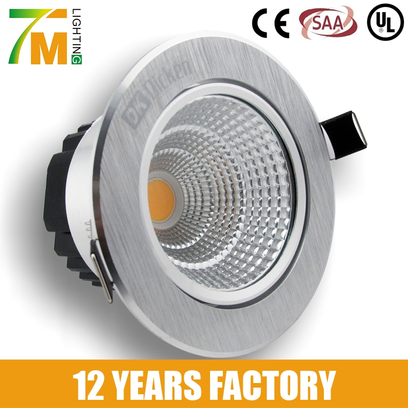 3inch 4inch 5inch 6inch recessed LED cob downlight with 80mm 100mm 120mm 140mm cut out