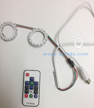With Remote Controller Programmable WS2812 SK6812 8 16 24 60 RGB RGBW LED pixel ring
