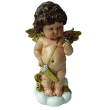 Wholesale polyresin mini male boy baby small angel figurines