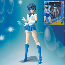 "Japanese anime SHF S.H.Figuarts Pretty Guardian Sailor Moon Mercury 14cm/5.5"" sexy girl action figure"