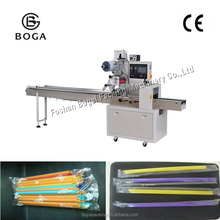 Semi-automatic type Wooden box packaging machine and good factory price individual straw packing machine