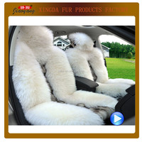 auto seat cover with fox head & fur