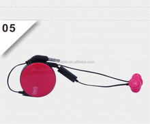 Latest technology cool design retractable earphone for mobile/mp3/mp4