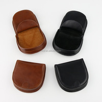Fashion vintage new arrival bi-fold horseshoe hoof brown leather coin bag/coin purse
