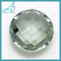 Pure double checkerboard round cut glass gems