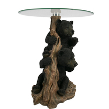 Modern Glass Top Coffee Table Animal Resin Arts Living Room <strong>Furniture</strong>
