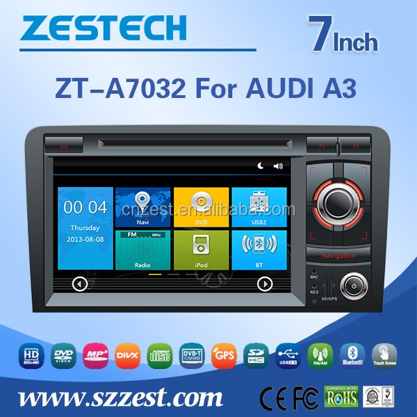 ZESTECH 7'' touch screen 2 din car dvd car radio player for AUDI A3 car DVD navigation Multimedia audio/video System
