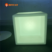 Outdoor large rotational rectangular plastic LED planters