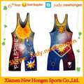 wholesale low cut custom sexy women wrestling singlet