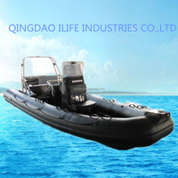 IL-B580C 11person 1.2mm pvc RIB boat glass bottom boats for sale