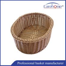 Handweaved supermarket poly wicker basket for fruit and vegetable