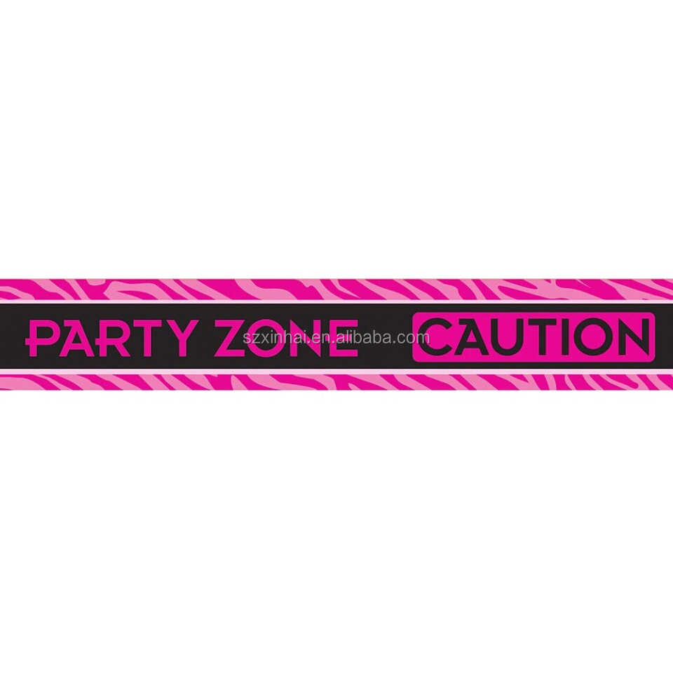 Hot pink Bachelorette Party game Zone Caution Tape