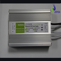 factory direct price IP67 waterproof constant voltage led transformer 24V 12.5A 300w CE&ROHS certificated