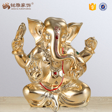 Folk art religious indian elephant resin statue table decoration pieces for wholesale