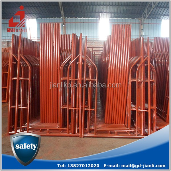 Different Sizes Cheap Metal Walk Through Scaffolding Frames For Hign-rise Building