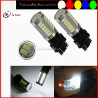 Best quality white 6000K red amber cars autos 3156 12v led turn lights T25 led front rear side turn light 33pcs 5630 smd