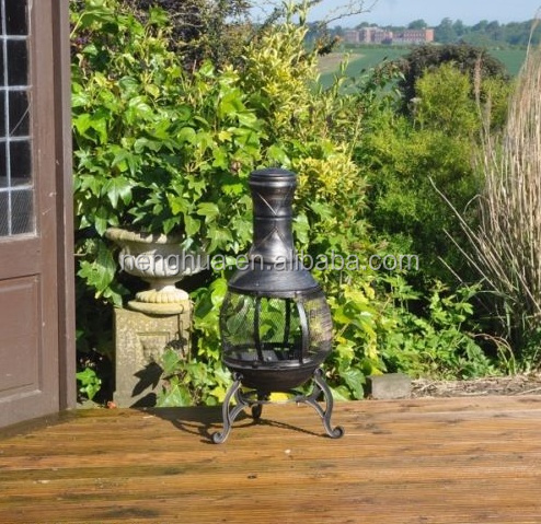 Outdoor cast iron steel barbecue chiminea patio heater BBQ fire pit
