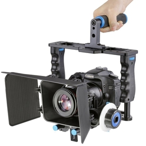 Dropshipping YELANGU YLG1103A-B Large Handle Video rig Camera Cage Stabilizer + Matte Box Kit for DSLR Camera / Video Camera