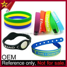 Energy Cheap Custom Silicone Bracelet/ Adjustable Silicon Wristband/ Silicon Bracelet