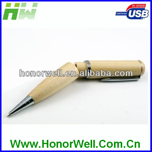 Wooden pen USB Flash drive with Laser logo