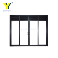 YY windows and doors AS2047 modern exterior used office glass doors modern entry doors