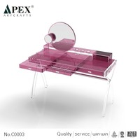 Hot Sale Fast Custom acrylic lucite vanity table