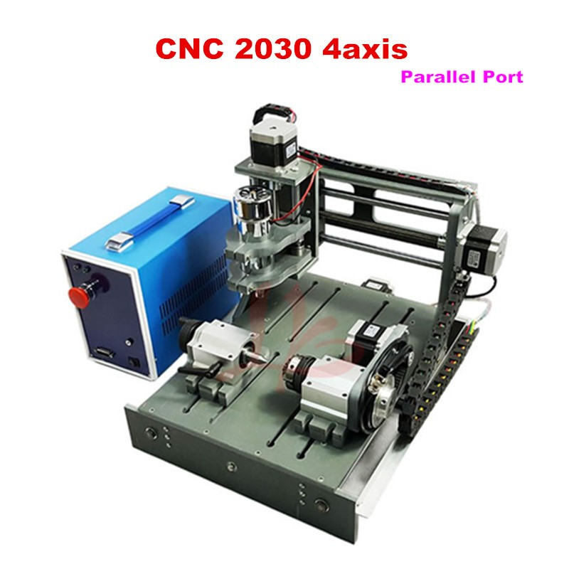 Cheap CNC engraving milling machine 2030-parallel port 4axis small cnc woodworking router