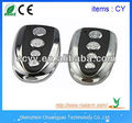 Best-selling remote controlled mini alarm rf transmitter with four metal key
