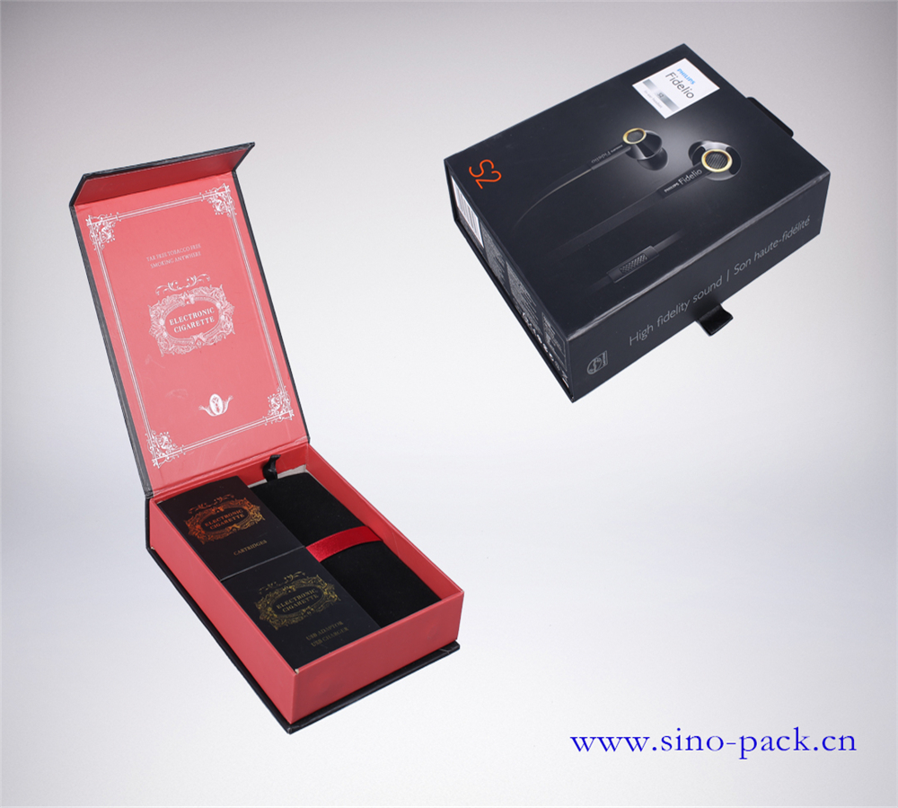 luxury earphone Philips supplier cardboard box packaging