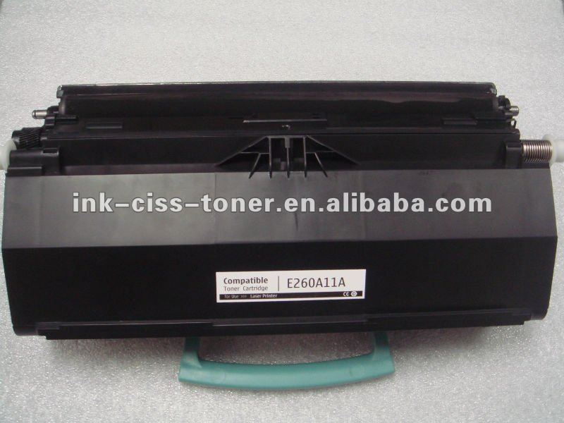 100% new compatible toner cartridge E260/360/460 for Lexmark