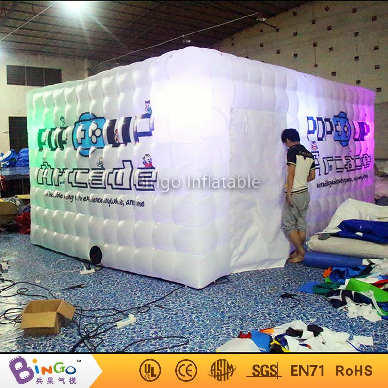 led light inflatable tent/large inflatable photo booth with logo customize BG-A0759